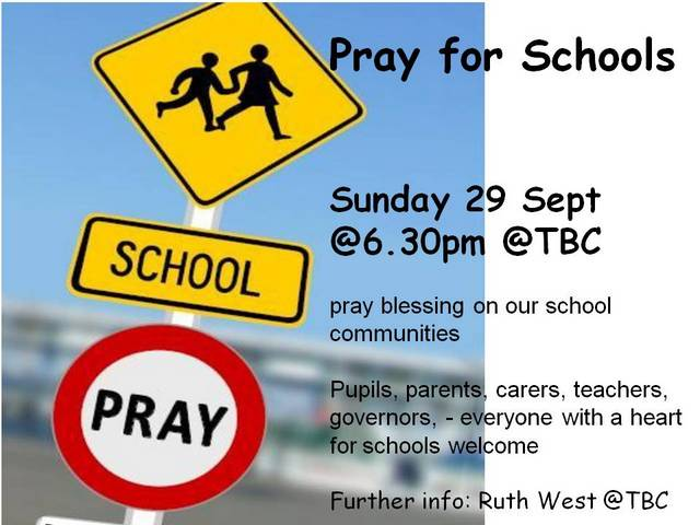 Pray for schools Sept