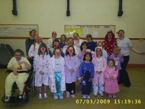 Girls Brigade go red nose crazy