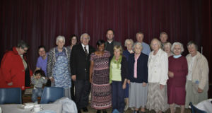 John and Esther Green  from Testimony Faith Homes with friends from St Matthew's at the Parish Centre