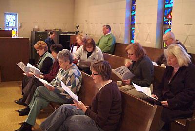 Choir Practice Before Sunday Service