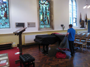 unveiling of the piano