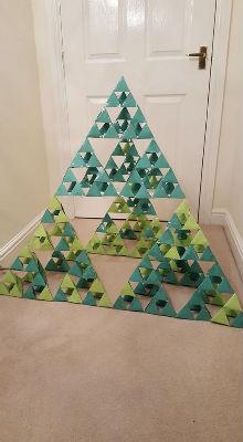 3 dimensional Sierpinski triangle christmas tree