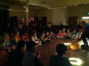 Children and lights in the dark