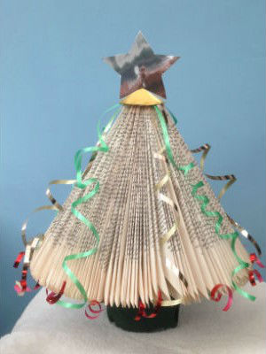 Paper Back Book Christmas Tree