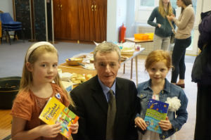 Stewart Henderson and winners of the Logo Competition