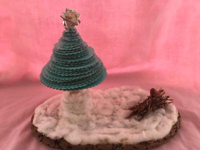 Paper Plate Tree by Rosalie Precious