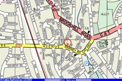 East Barnet Map