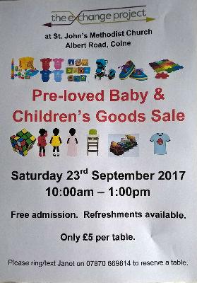 Baby goods sale