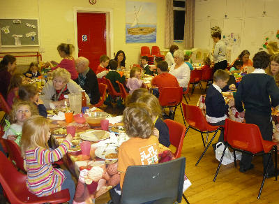 Toms Messy Church at meal time
