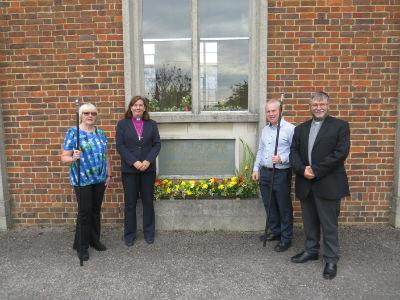 Bishop Karen at foundation stone