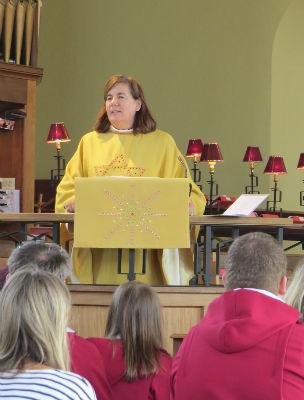 Bishop Karen preaching