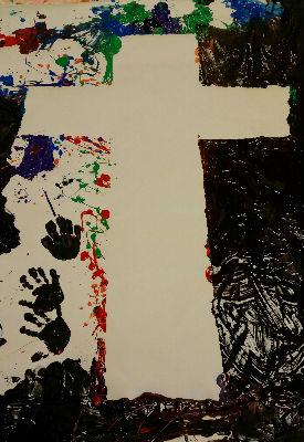 messy cross