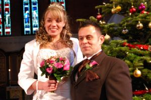 John and Lauras Christmas Wedding