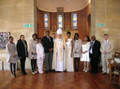 Bishop Christopher and Confirmation Candidates December 2013