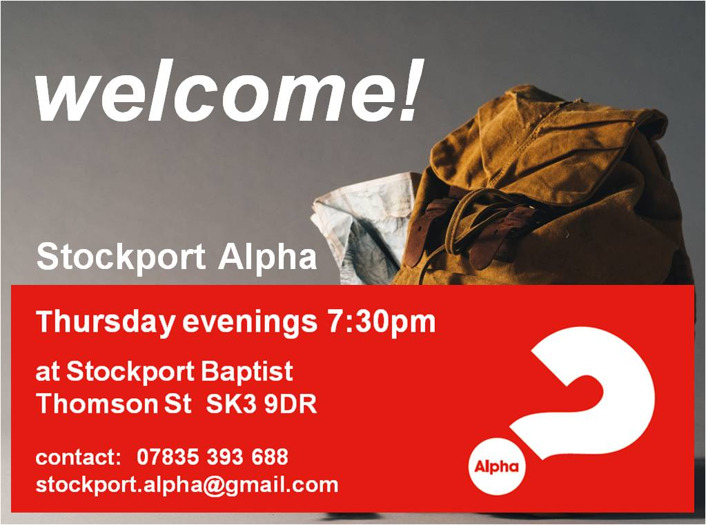 Stockport Alpha - thurs eve