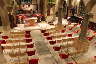 View from the gallery at the back of the church