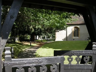 View of Church from gate