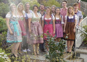 choir in German trad dress