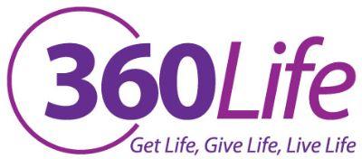 360Life logo with slogan
