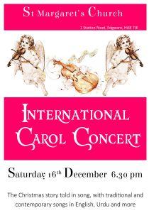 International Carol Concert Poster