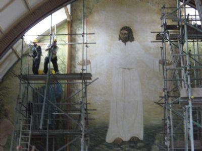 Sparkhill St John's internal scaffolding