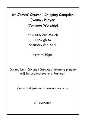 Lent Prayer Evenings