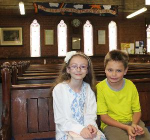 Kids in main church