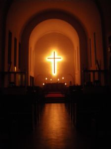 Maundy Thursday vigil in church 2010