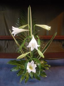 Easter lilies in Lady Chapel 2010