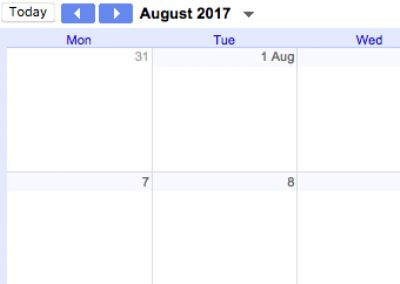 Click here to see the calendar - the default view is Agenda