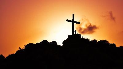 Cross on a mountain