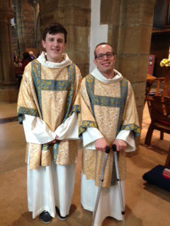 Daniel & Reece wear chasuble