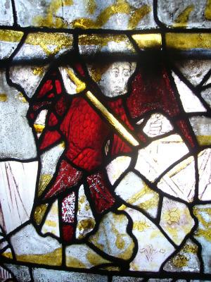 St Michael, old window