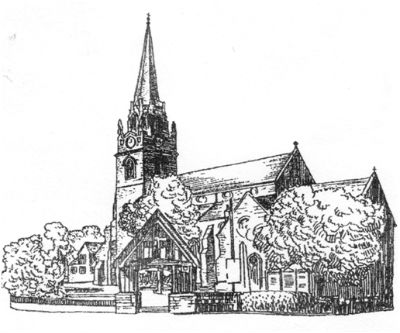 drawing of the church building