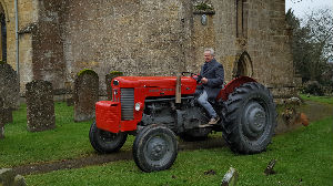 tractor leaving
