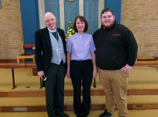 Rev Jane with Rev Steve and Craig