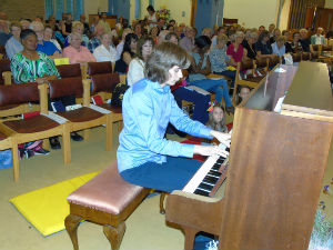 Matthew at the piano