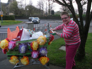 decorated Food Bank trolley