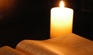 Candlelit Bible