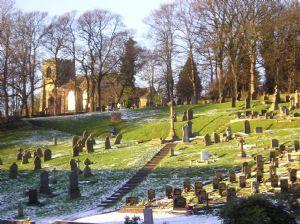 Frosty cemetery