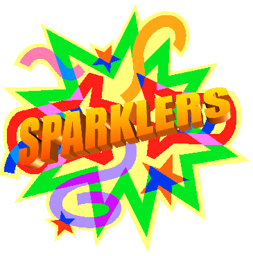 The sparklers logo - a party cracker with the word Sparklers in the center.