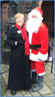 Rev'd Jane & Father Christmas