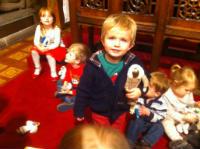 crib at the altar