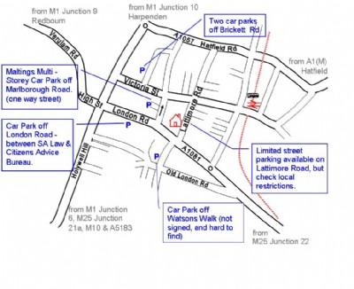 Large parking map