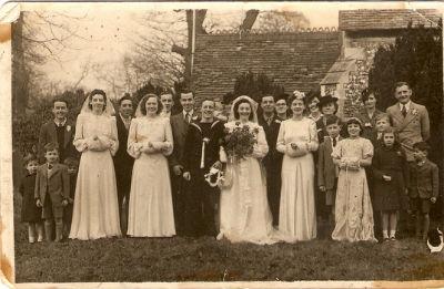 knapp family wedding 1944