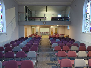 chairs in place