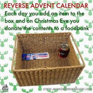 Reverse Advent Calaedar