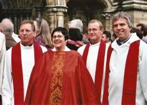 Jackies ordination at Salisbury Cathedral September 2006