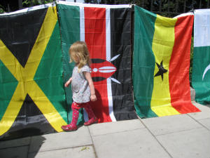 Children and flags