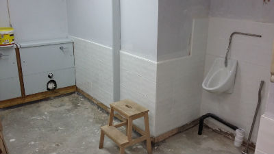 New toilets - work in hand